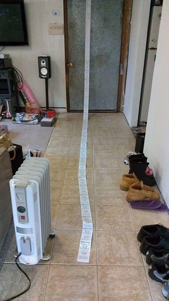 long cvs receipt