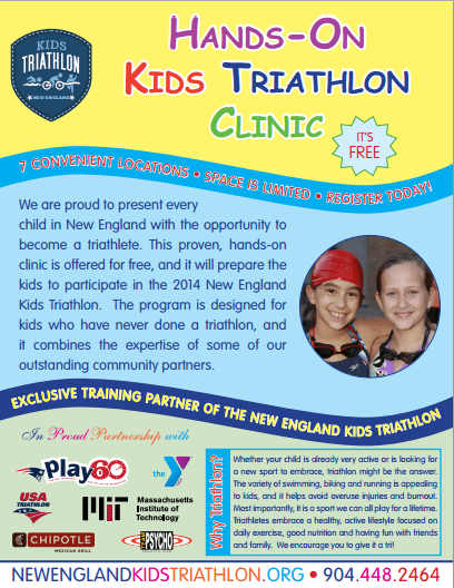 Free Kids Triathlon Clinics in Massachusetts this June!