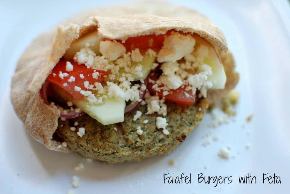 Falafel Burger with Feta