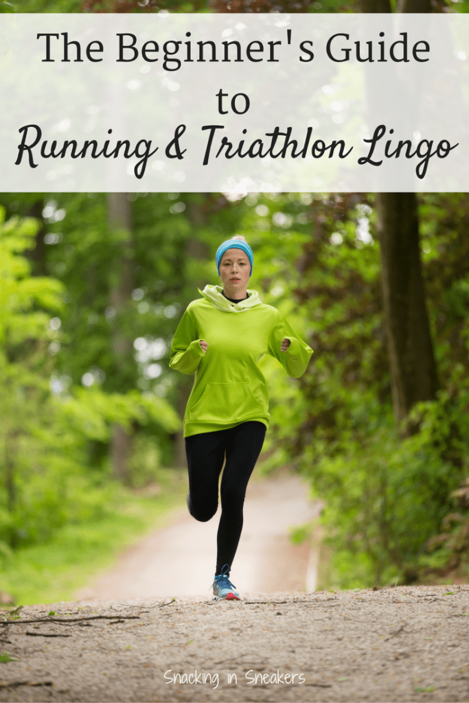 Thinking about training for your first road race or triathlon? Get a peek at some of the common training and race day running and triathlon lingo that you might come across! Chip time vs gun time? Transitions? A breakdown of race distances? It's all here!