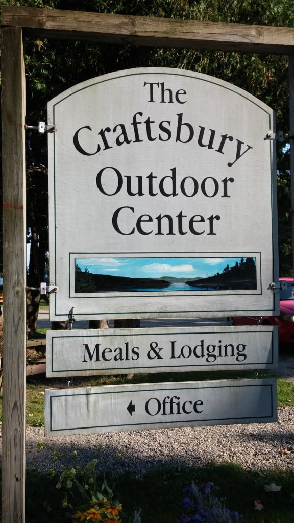 Craftsbury Outdoor Center Sign