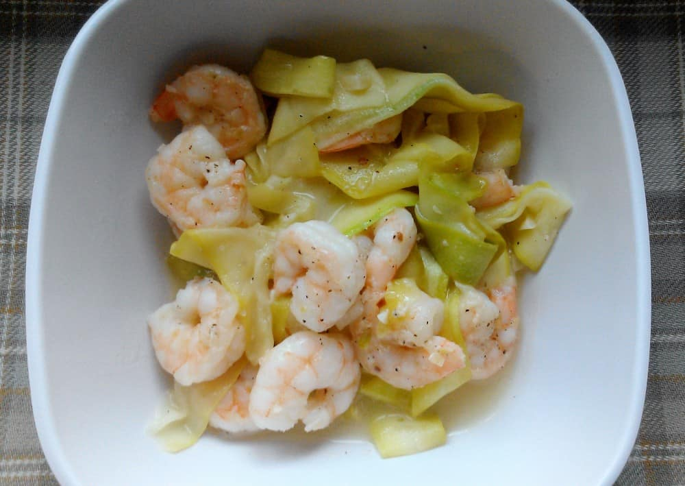 Shrimp Scampi with Zucchni Noodles