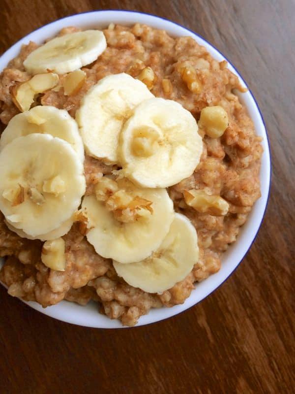 Slow Cooker Banana Nut Oatmeal