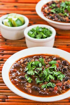 Slow Cooker Black Bean and Rice Soup