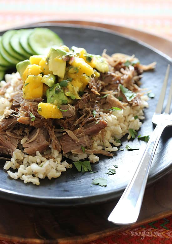 Slow Cooker Jerk Pork with Carribean Salsa