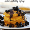 These healthy whole wheat pumpkin pancakes are light and fluffy - a favorite fall breakfast recipe for kids and adults alike!