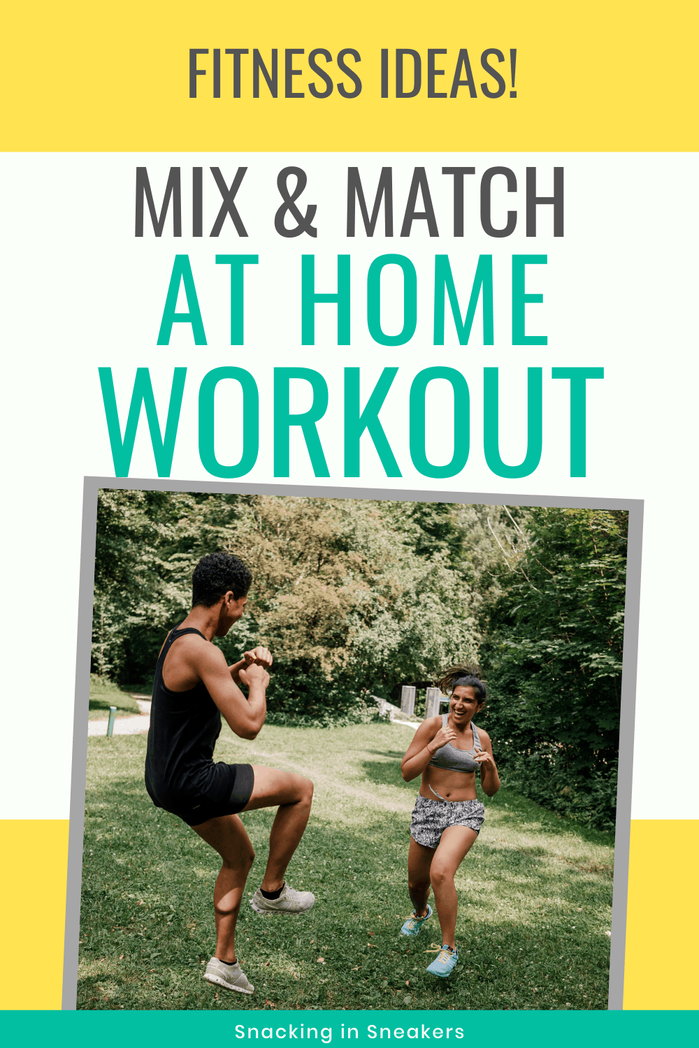 A couple doing an at home workout