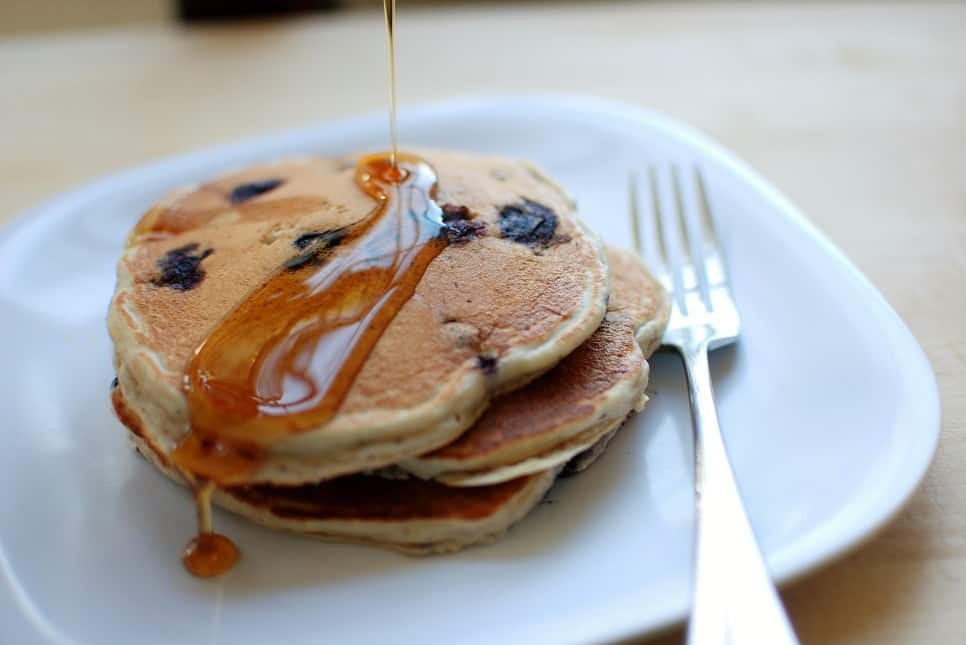 Blueberry Vanilla Yogurt Pancakes