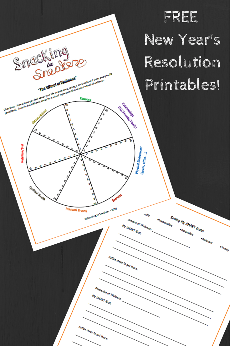 Free New Years Resolution Printables