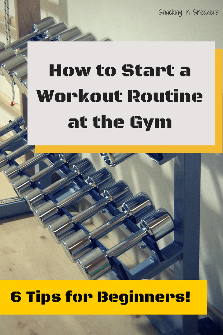 A row of dumbbells with a text overlay about workout tips for beginners