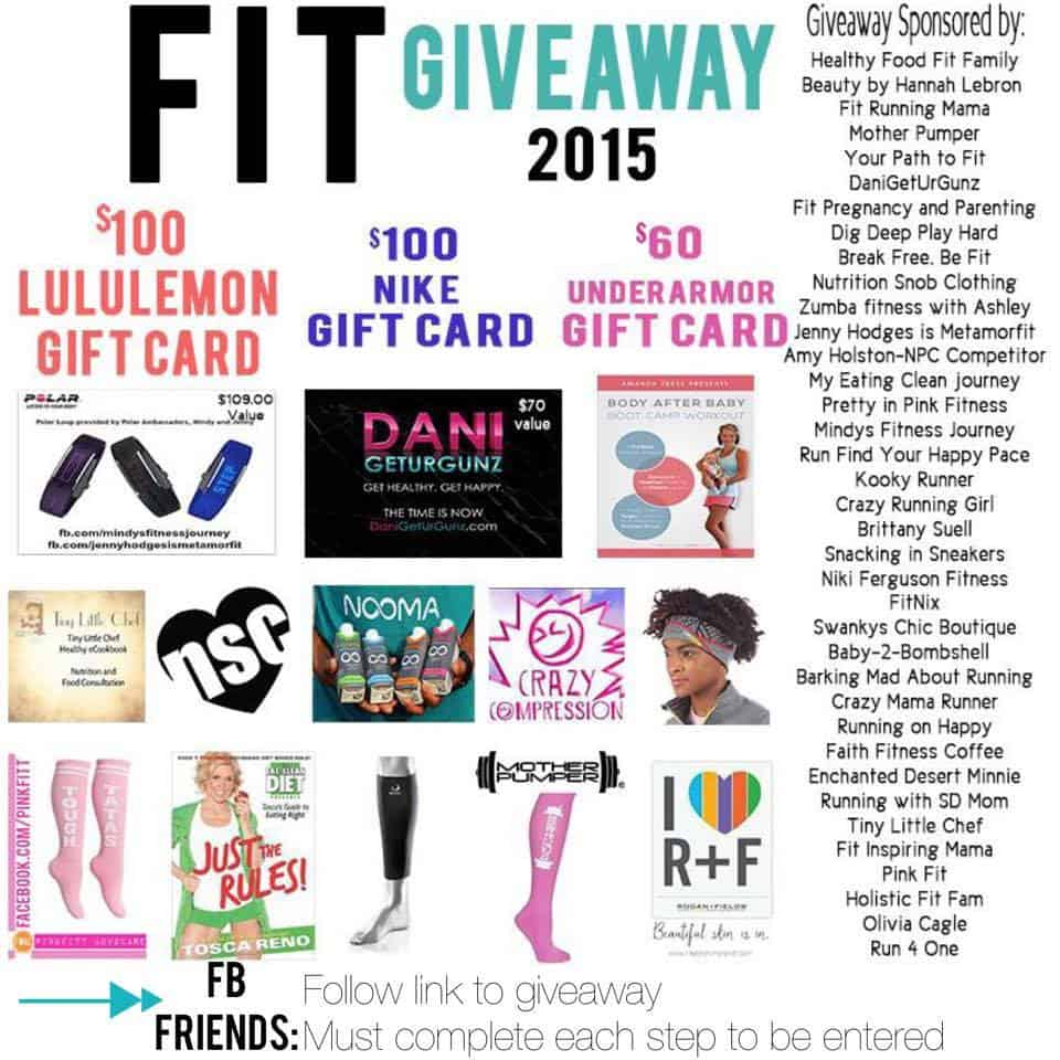Big Fitness Giveaway:  #FitGiveaway2015!