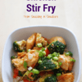 This healthy chicken stir fry recipe is a perfect option when you're craving takeout but want something better for your health – and budget!