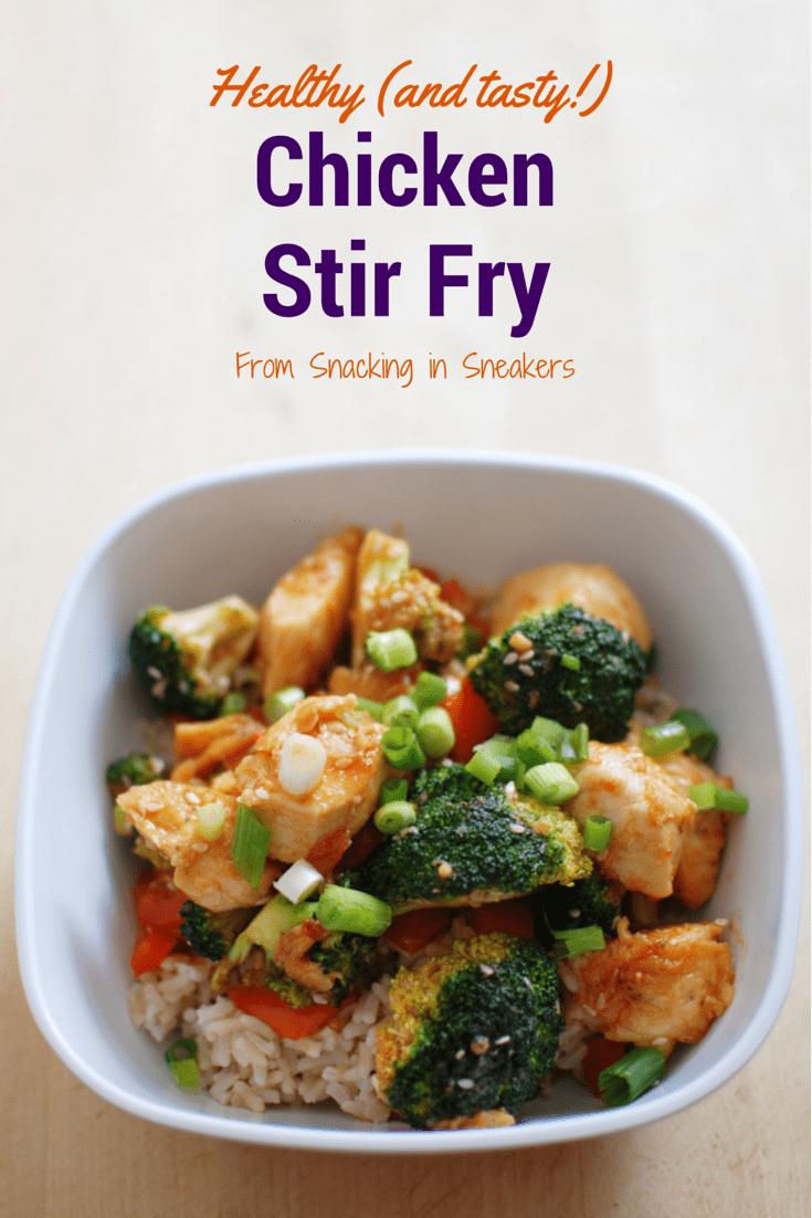Healthy Chicken Stir Fry - Snacking in Sneakers