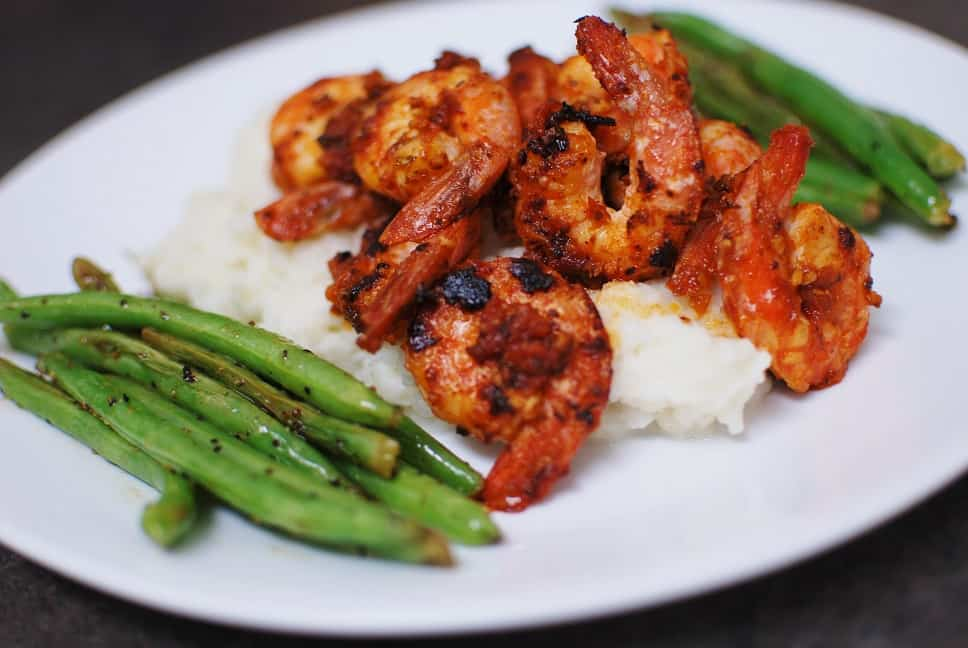Shrimp Romesco and Cauliflower