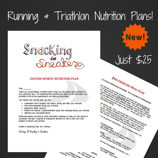 Running and Triathlon Nutrition Plans