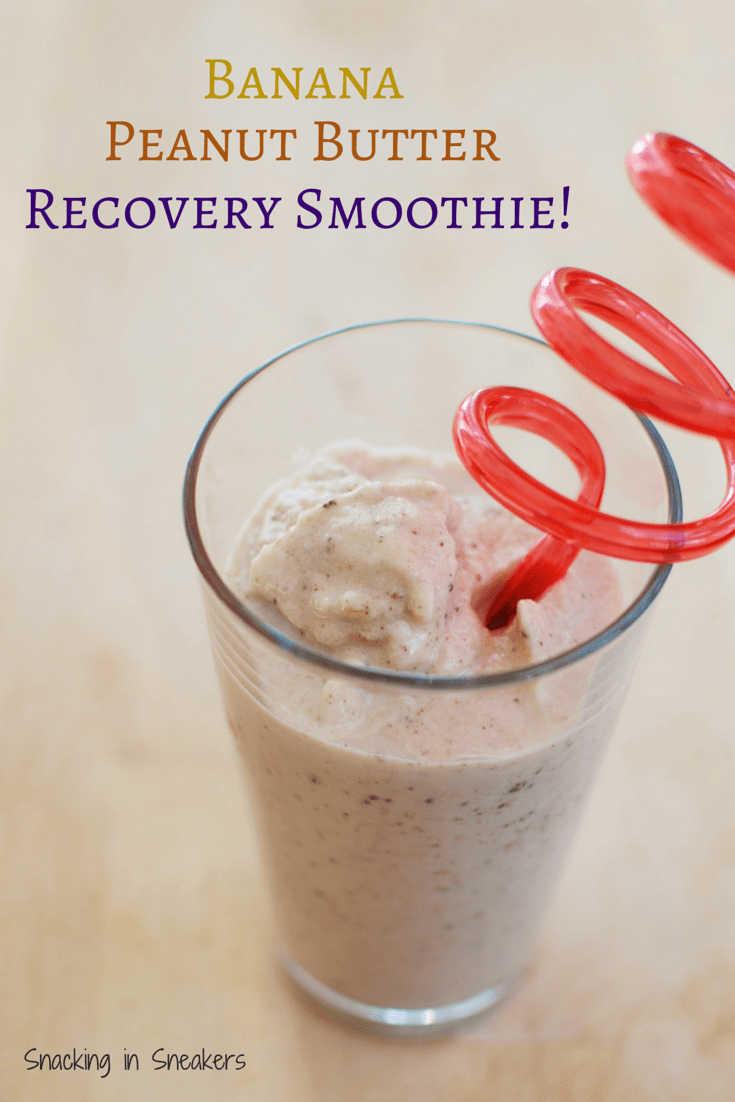 Banana Peanut Butter Recovery Smoothie Recipe