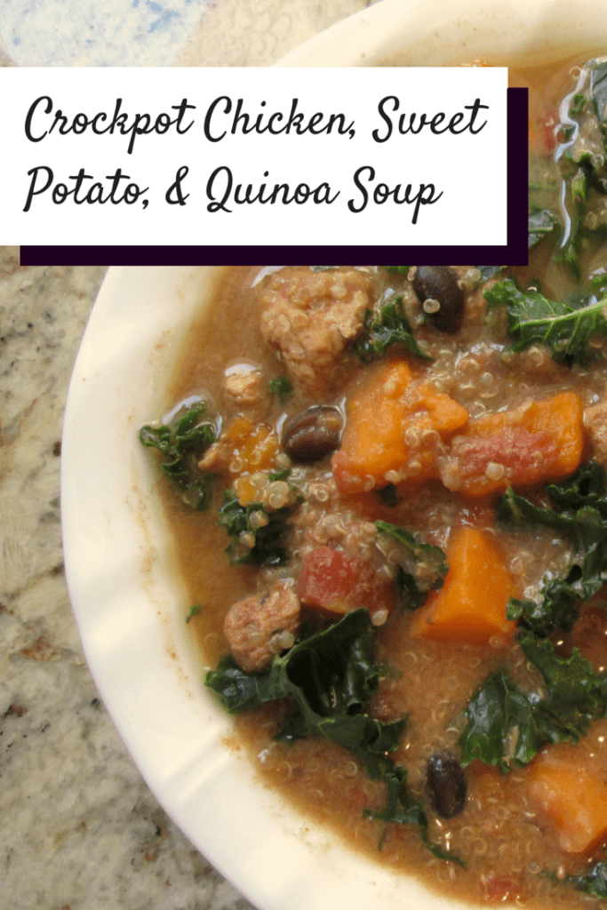 Crockpot Chicken Soup with Sweet Potatoes and Quinoa