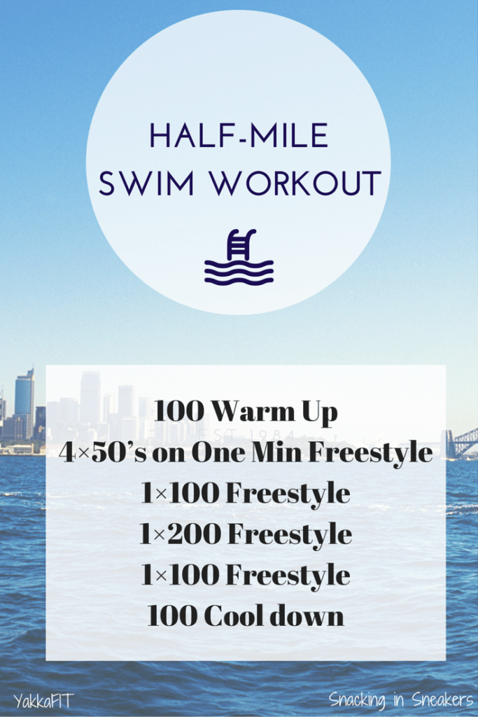 This half mile triathlon swim workout is a great pool workout for anyone training for upcoming races! | Triathlon Training | Triathlon Swim Training | Swim Workout