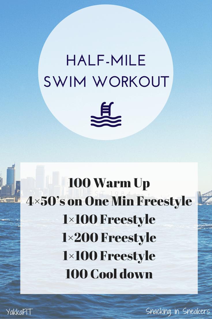 Half Mile Triathlon Swim Workout Snacking In Sneakers