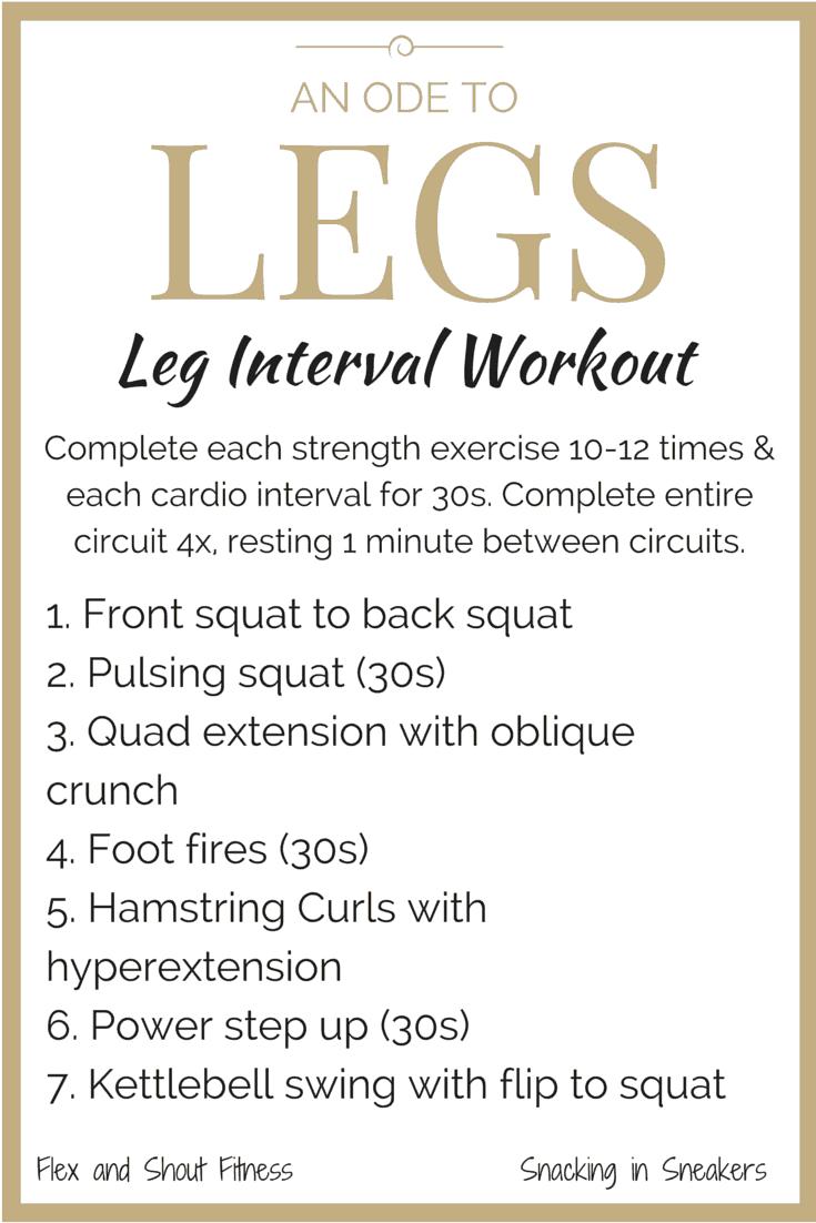 An Ode to Legs: A Leg Workout for Women!