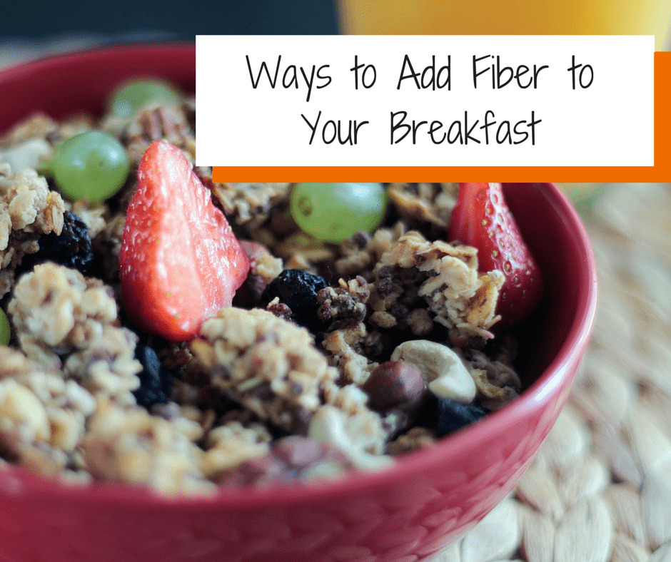 High fiber breakfast foods