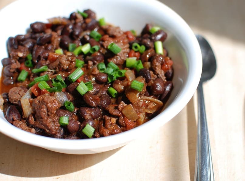 Chipotle Chili with Black Beans and Beef
