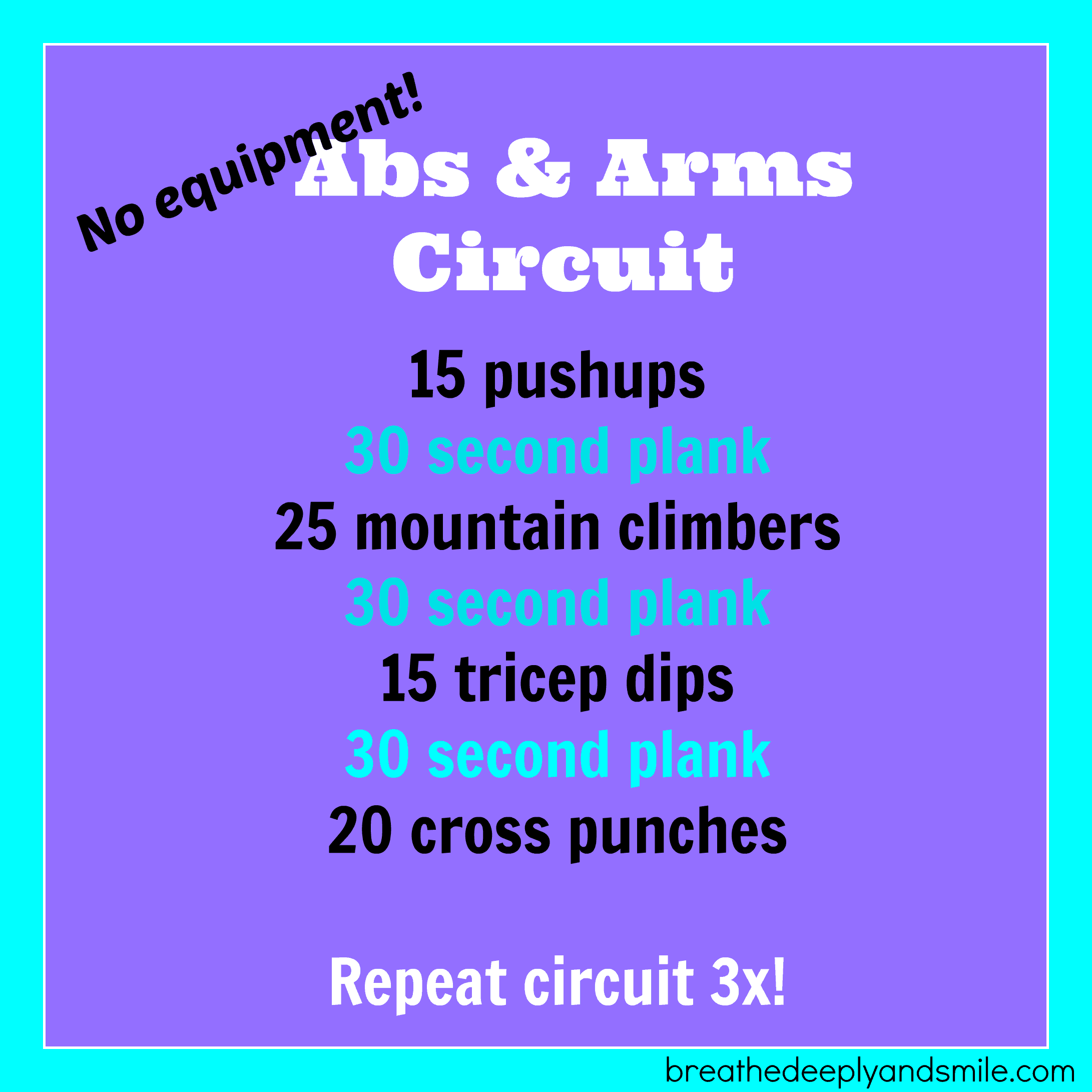 No Equipment Abs And Arms Workout Snacking In Sneakers