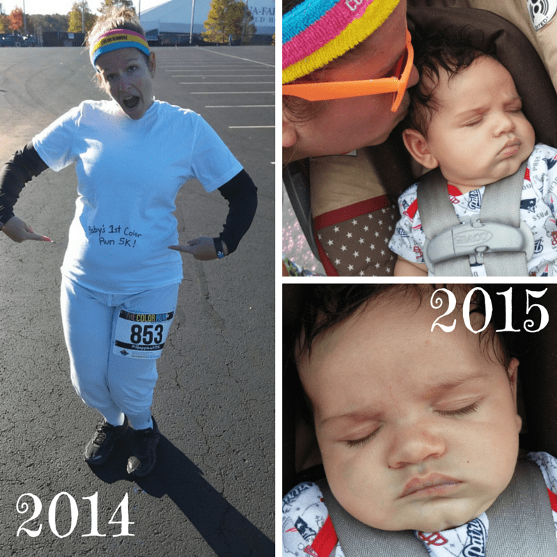 Color Run with a Baby