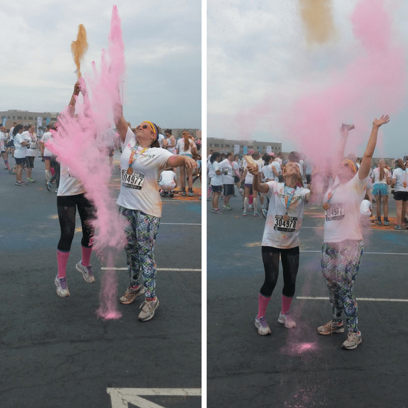 Color Run Color Throw Photo