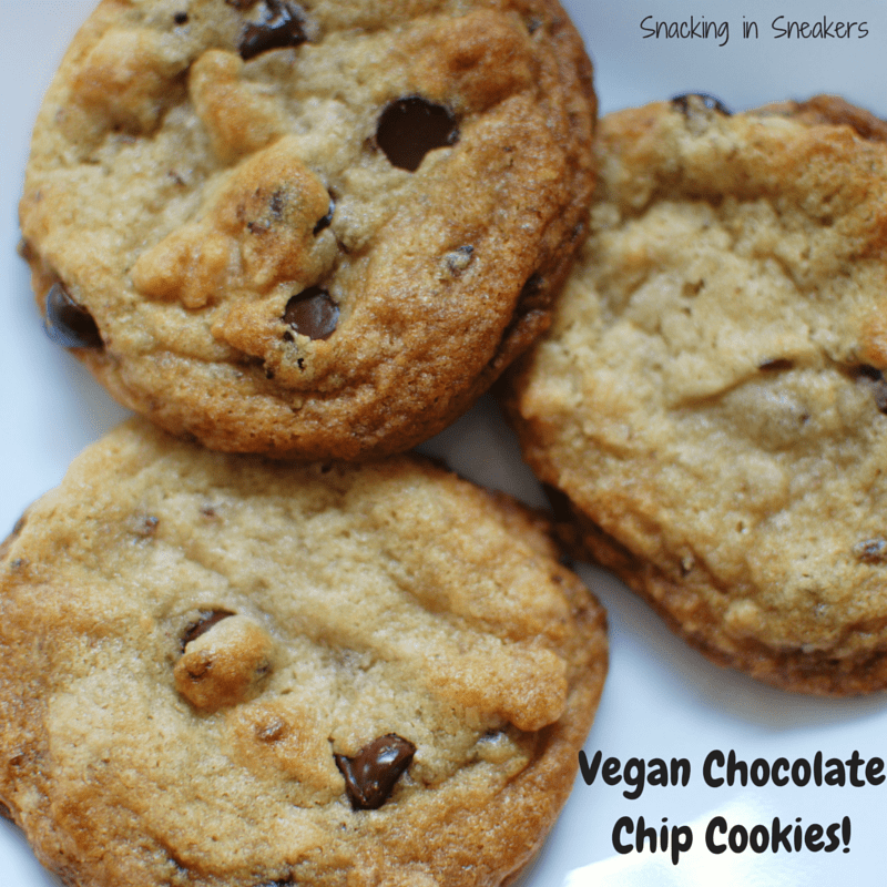 These dairy-free and egg-free chocolate chip cookies are chewy & delicious!