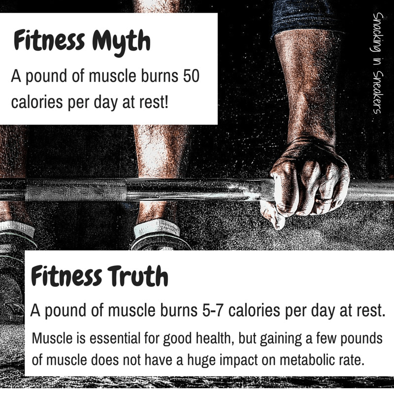 How many calories does muscle burn? It actually only burns 5 to 7 calories per pound!