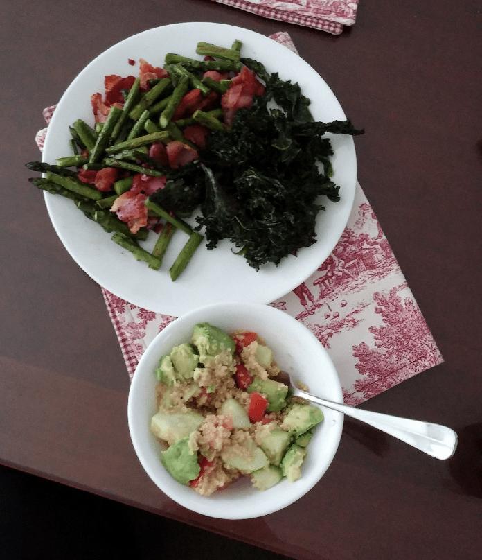 Quinoa Salad and Asparagus