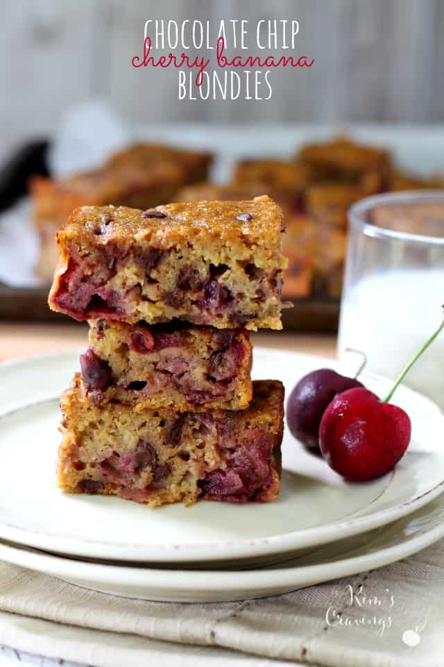 Cherry Banana Blondies