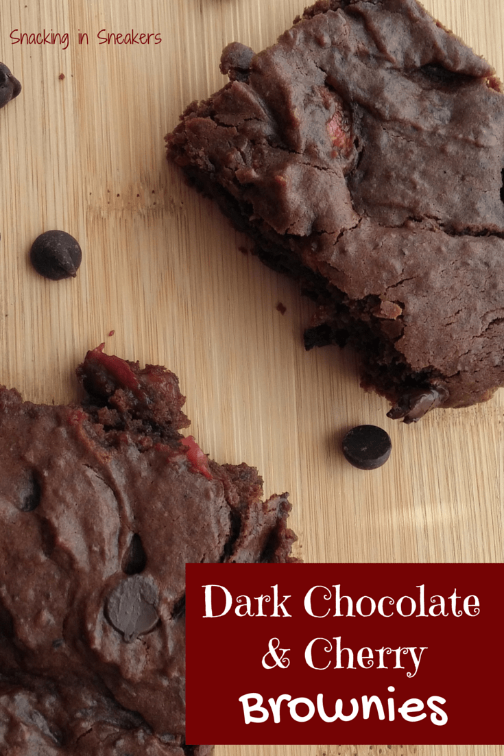 Dark Chocolate Cherry Brownies - an indulgent treat that you'd never know was made with whole wheat flour and black beans!