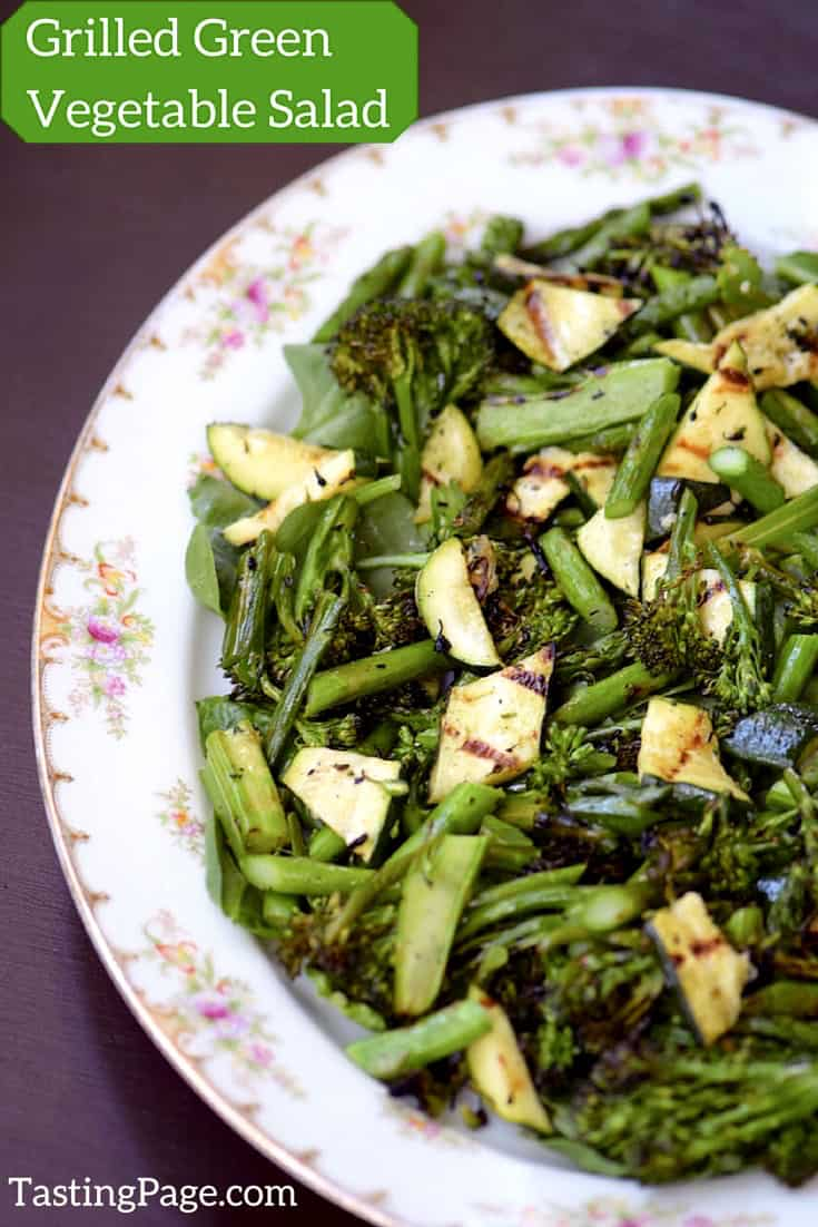 Green Grilled Vegetable Salad