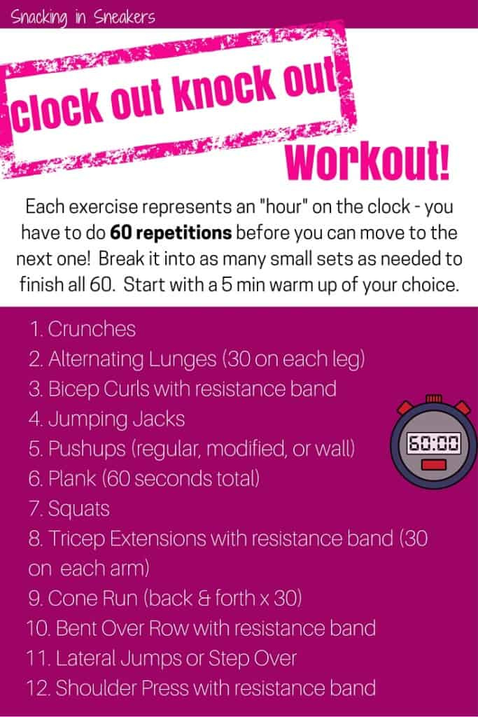 Clock Out Knock Out Boot Camp Workout!