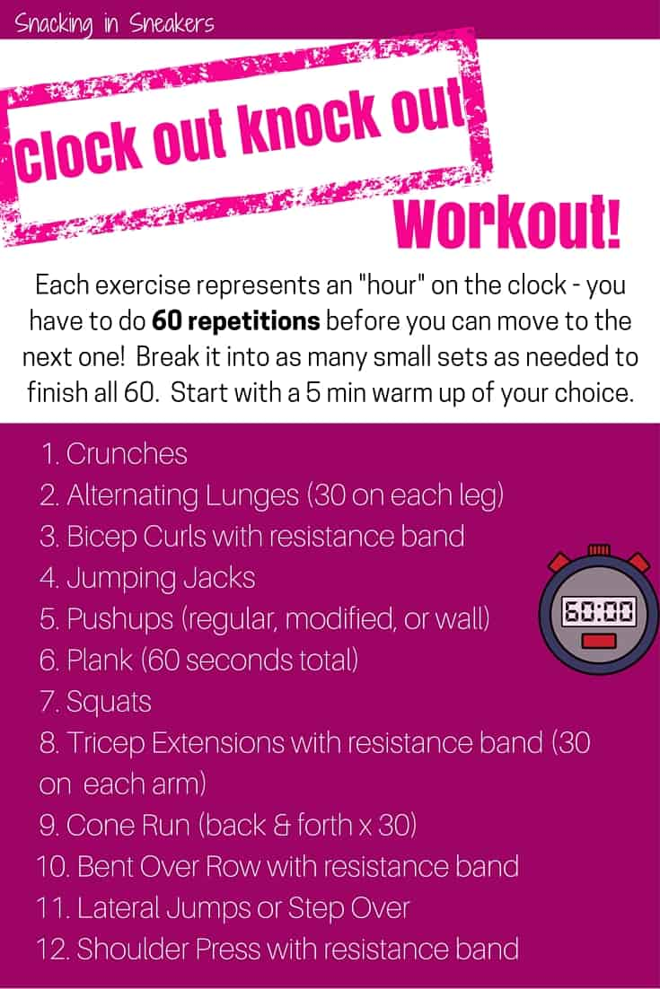 Clock Out Knock Out Boot Camp Workout