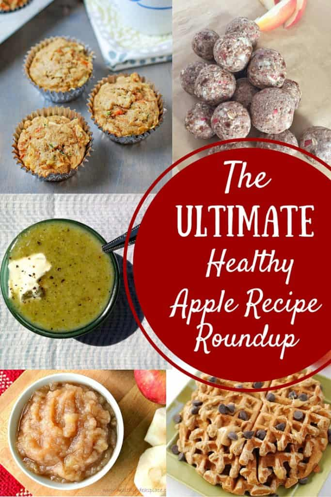 The Ultimate Healthy Apple Recipes Roundup! A great list with 20+ ways to use those fresh-picked fall apples.