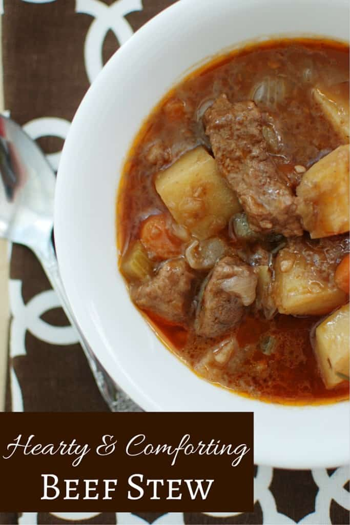 This beef stew is hearty, comforting, and rich in flavor. It's a perfect cold weather meal. {And even better paired with homemade bread!}