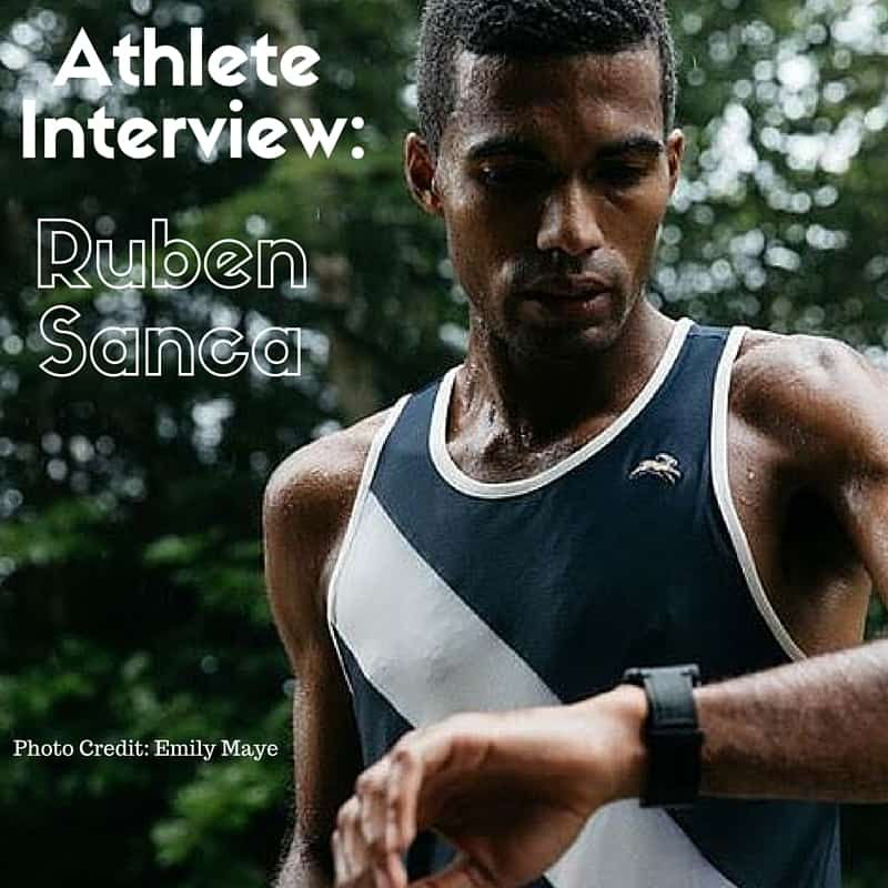 Athlete Interview with Runner Ruben Sanca.