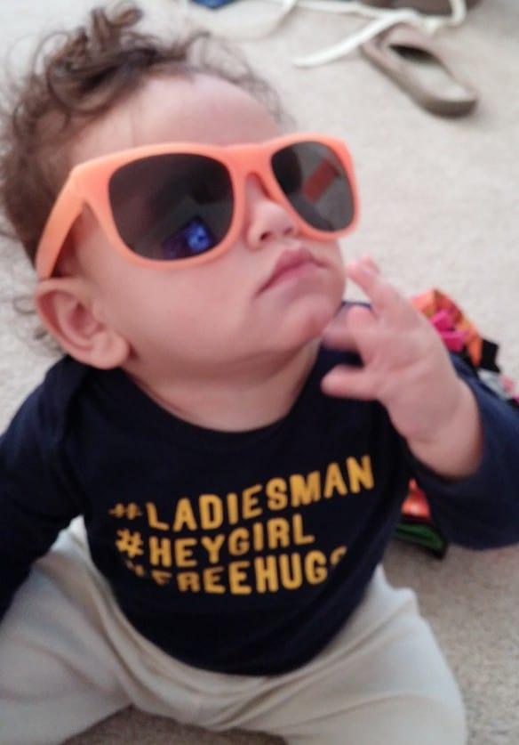 Sunglasses on Baby