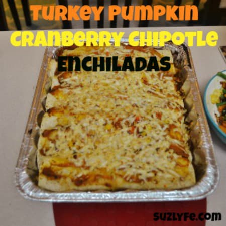 Turkey Pumpkin Cranberry Chipotle Enchiladas