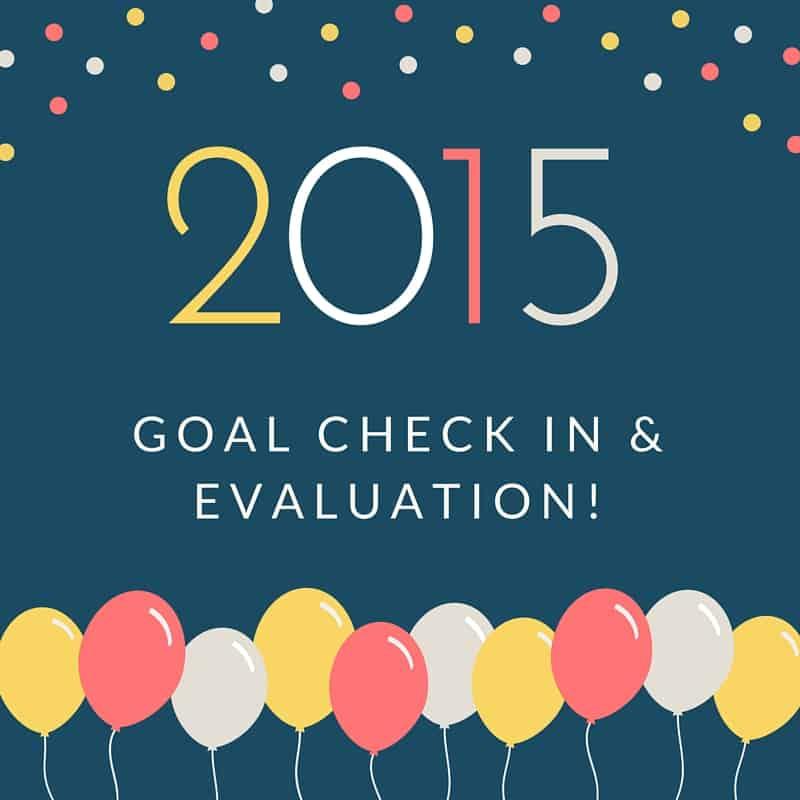 2015 Goal Evaluation