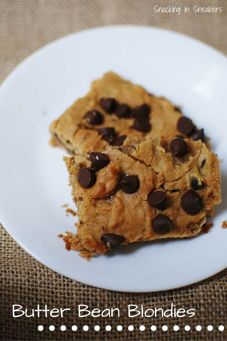 This recipe for butter bean blondies is SO easy to make - and has no flour at all! Gluten-free and dairy-free. Makes a perfect guilt-free dessert.