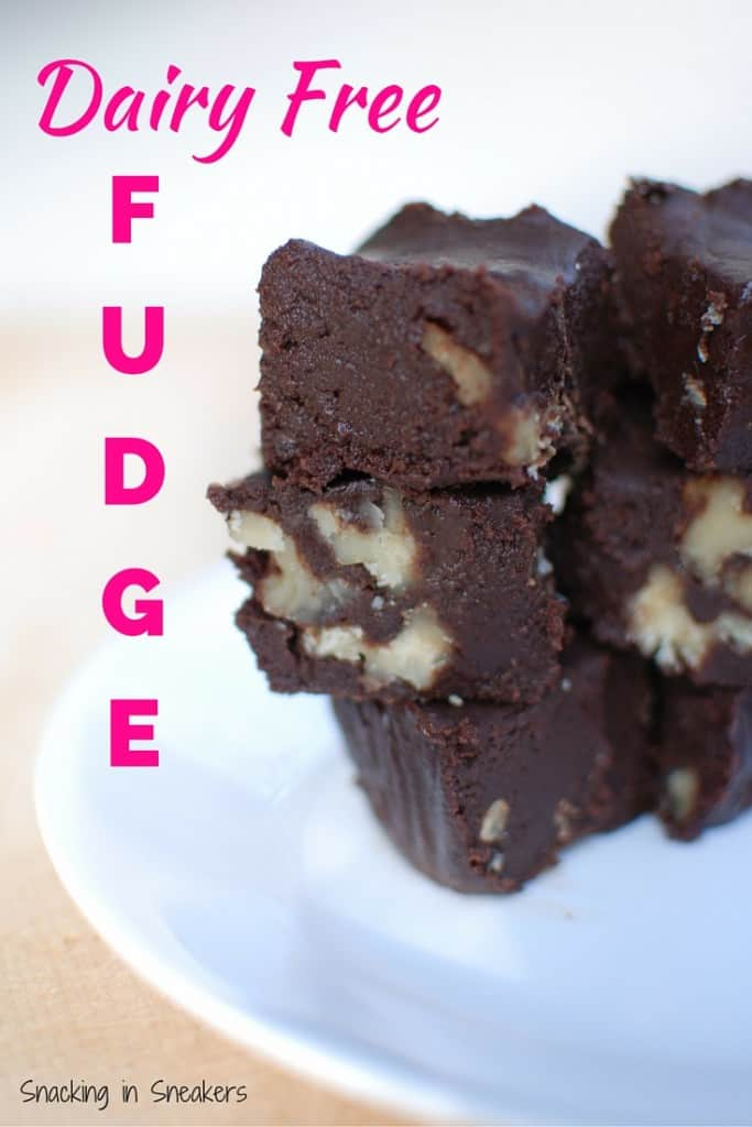 This dairy free fudge is made with coconut milk! Super rich and decadent recipe that is perfect for a chocolate fix.