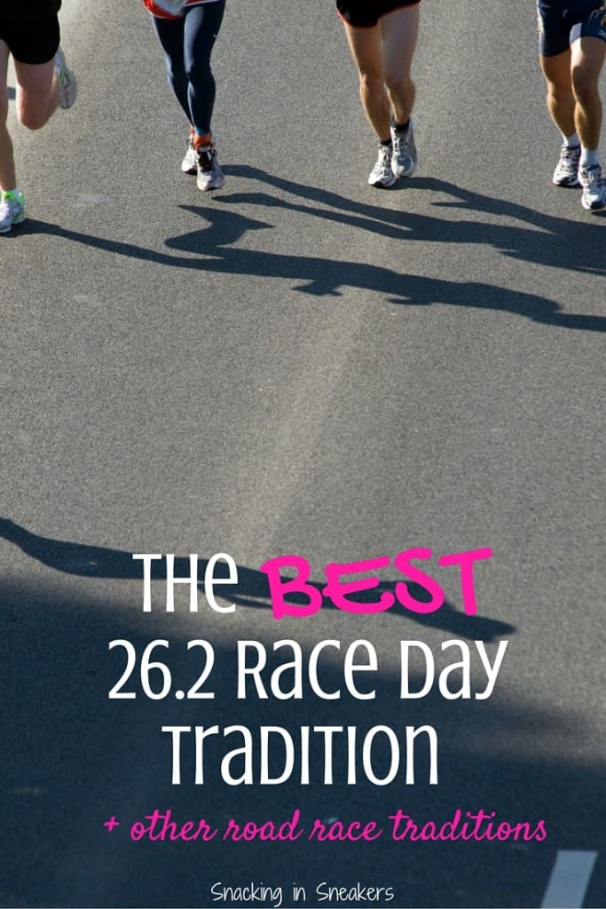 My Favorite Marathon Tradition + Other Race Day Traditions