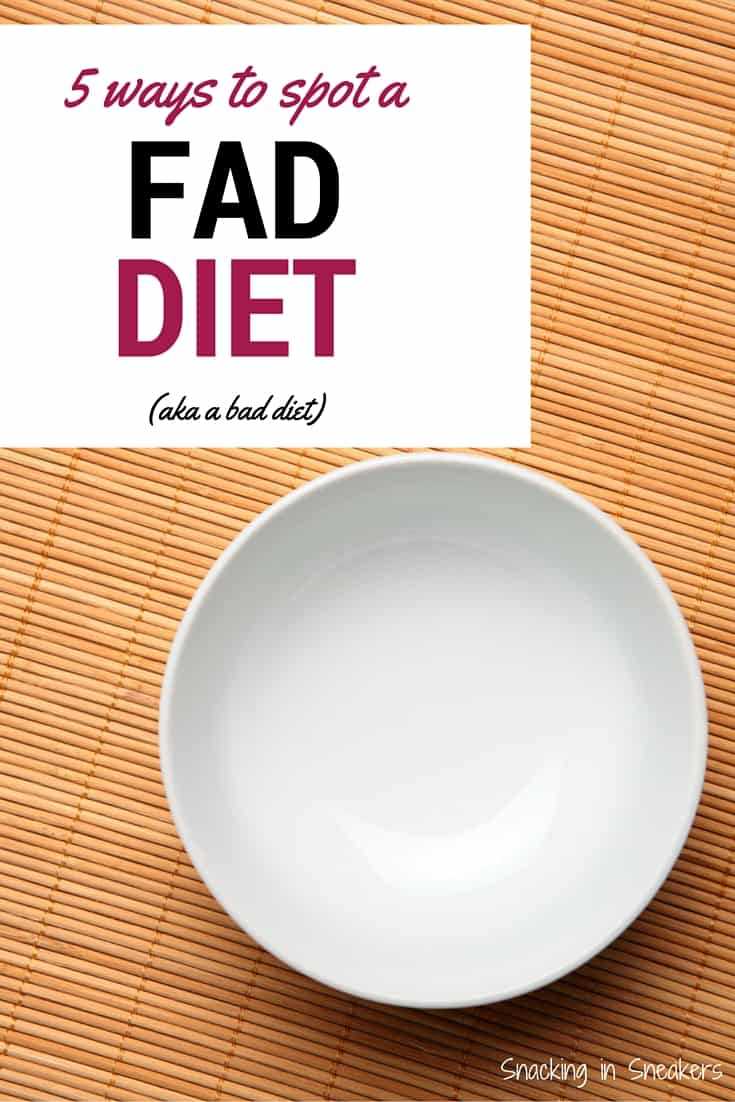 5 tips for spotting a fad diet. Great advice - no diets, just long term sustainable changes to stay healthy & fit!
