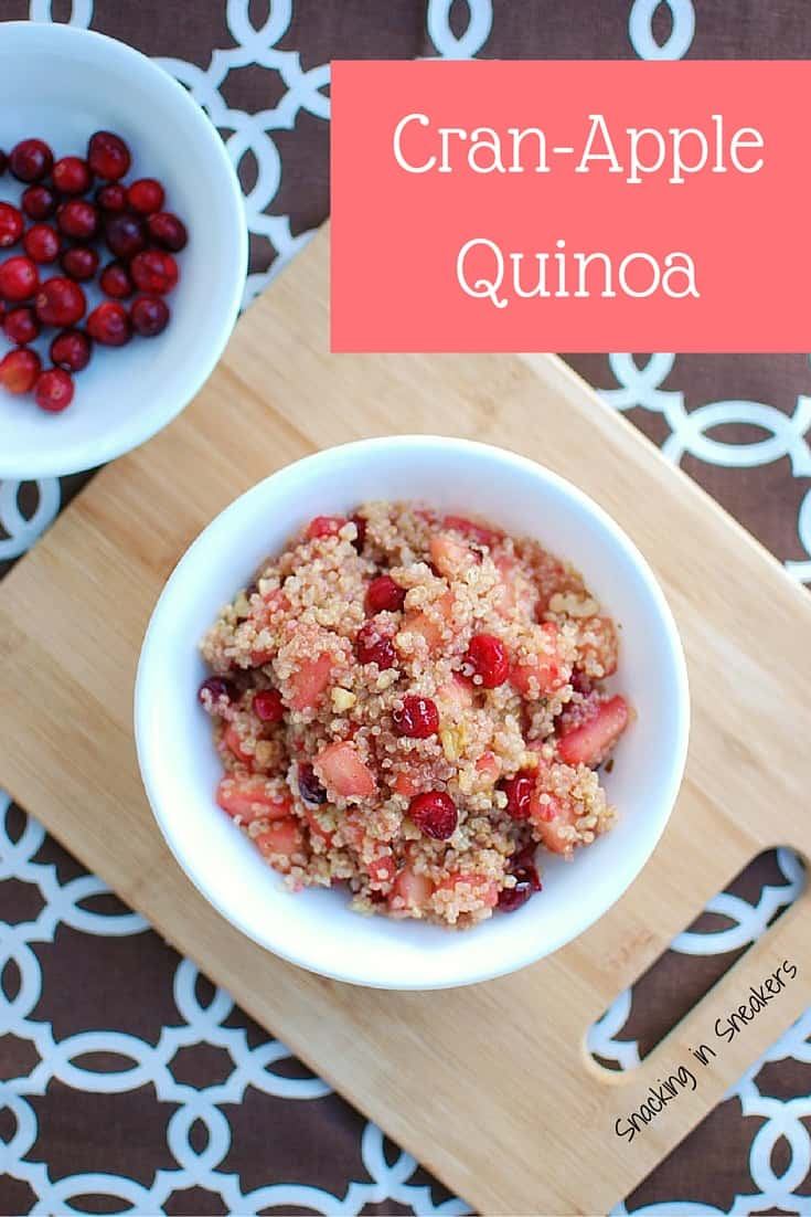 This cranberry apple breakfast quinoa is a tasty recipe for runners & triathletes! A great option before long runs and rides.