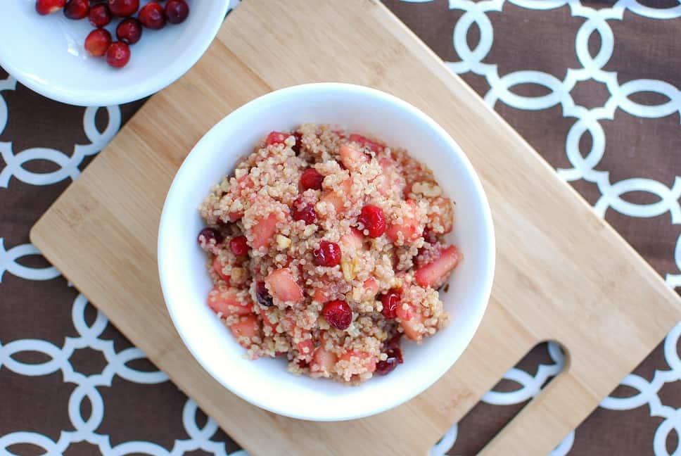 Cranberry Apple Breakfast Quinoa