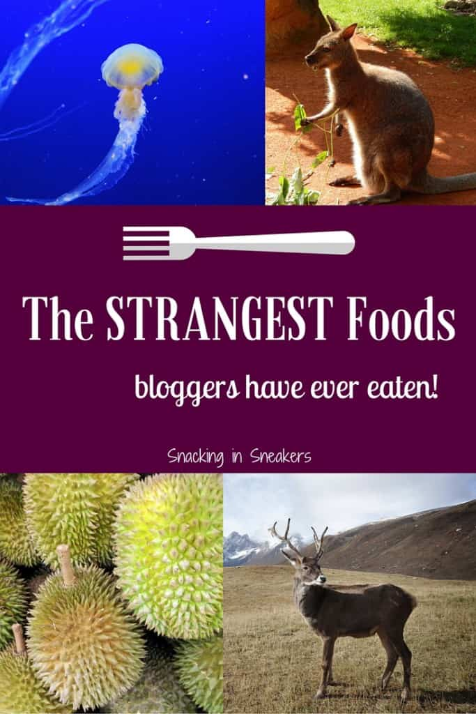 Fun post on the strangest foods bloggers have ever eaten. Some of these are out of my comfort zone! From durian to kangaroo to jellyfish, there's a lot of fun stories about food adventures.